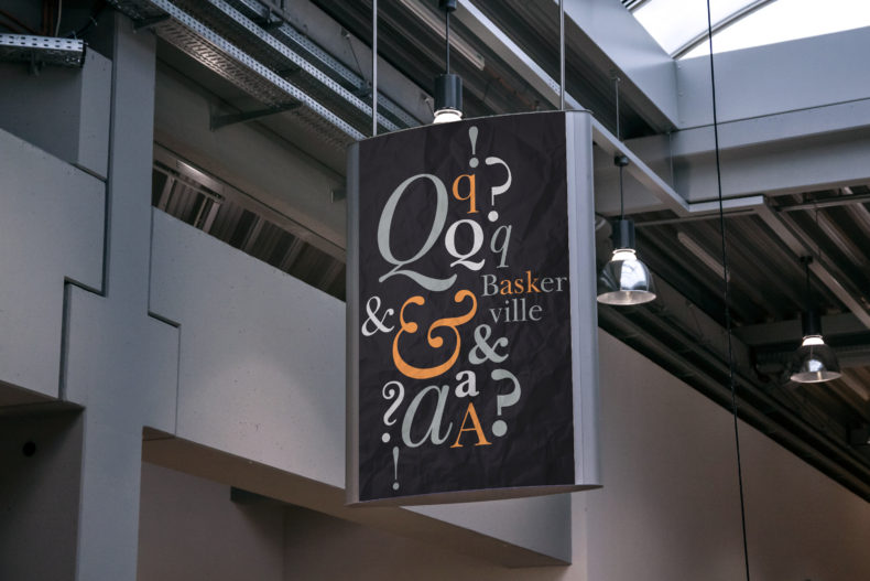 Indoor Advertising Poster_Baskerville