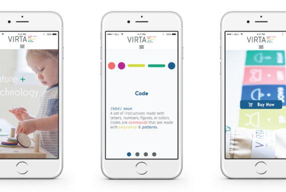 Seattle visual Designer showcases virta mobile mockups