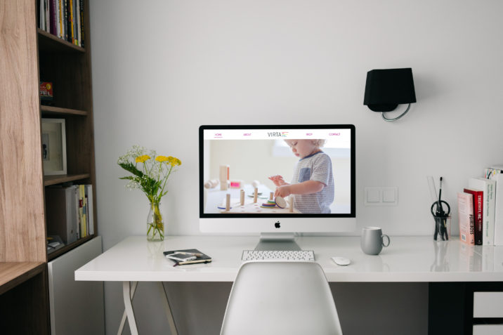 Seattle visual Designer web mock up of Virta Toy