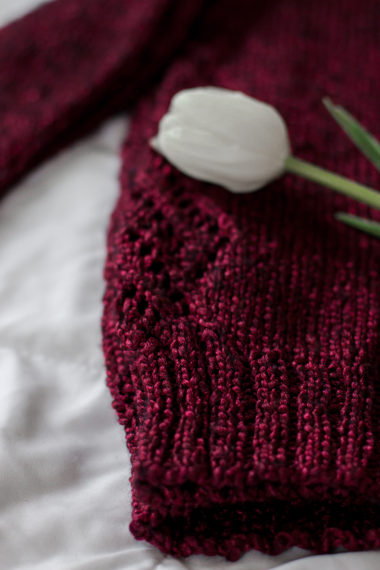 Details of a knitted pattern